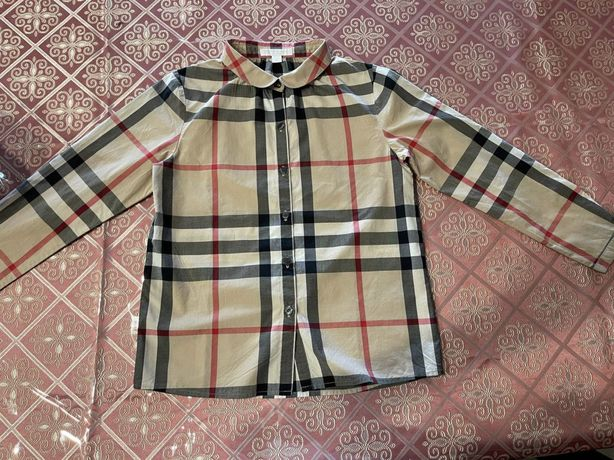 Рубашка Burberry для девочки 10 лет