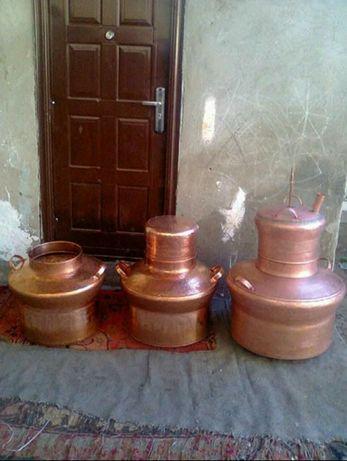 Vand cazan de țuica din cupru alimentare de 130 litri cu toate instala