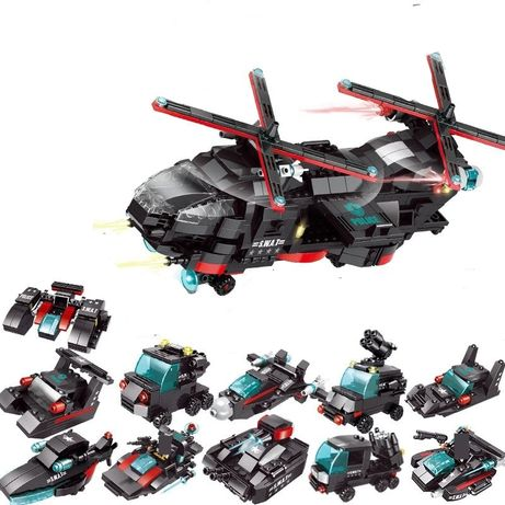Elicopter 676 piese Armata tehnic tanc technic city tip lego soldati