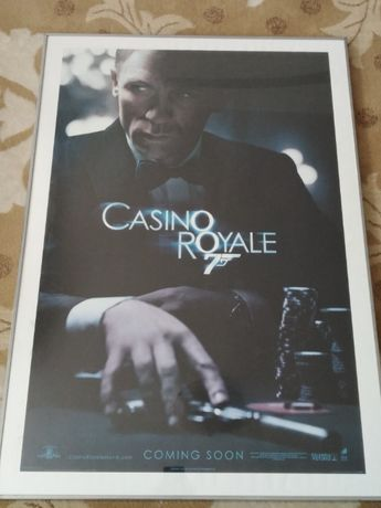 poster mare James Bond Casino Royale Daniel Craig 100x70 cm