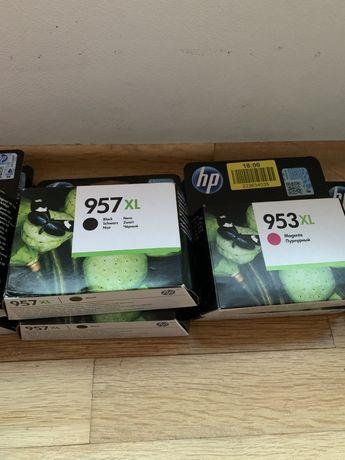 касети HP 957 XL 953 nero yellow magenta cyaan