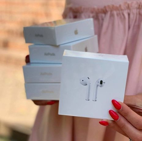 НОВЫЕ Airpods 2 LUX (with Wireless Charging) Аирподс 2