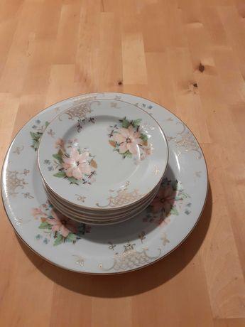set 6 farfurii tort + platou