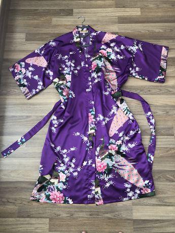 Разкошен халат от коприна М
