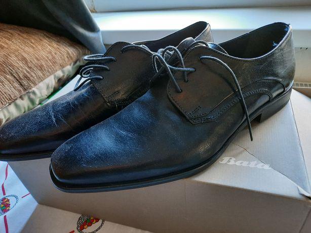 Pantof piele BATA, original,  NOi, mărimea 43, Italia