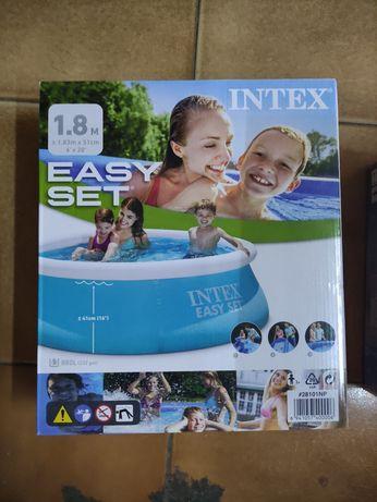 Детский бассейн intex 1,83m*51cm надувной бассейн каркасный