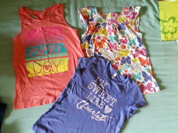 Пролетно летни дрешки, клинчета, панталонки, блузки122-128 см.