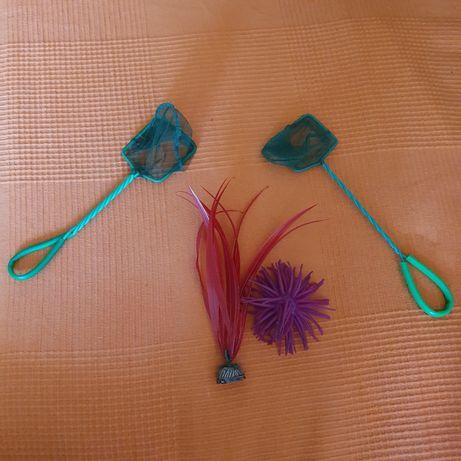 Продам сачки, водоросль искусственную, грузик