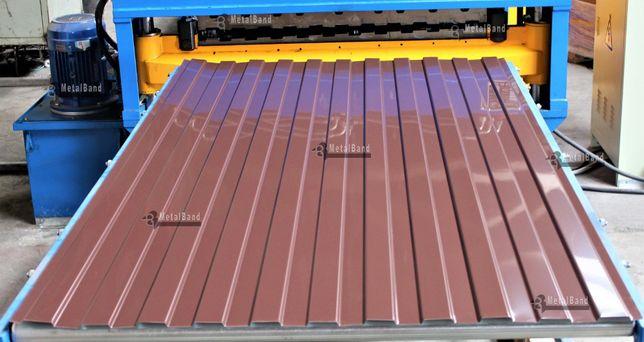 Tabla cutata vopsita maro si rosu de 0,35 mm direct de la producator