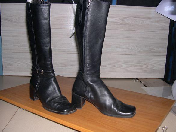Дамски кожени ботуши от естествена кожа
