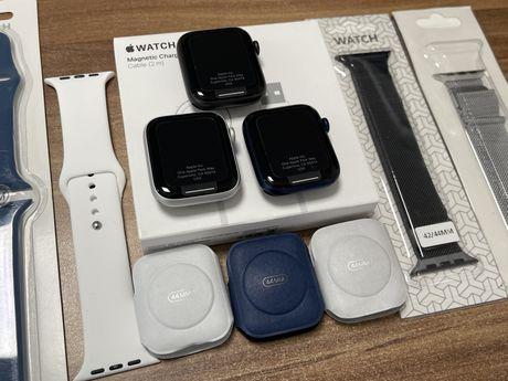Apple Watch Seria 6 / 44 mm / GPS / Black, Silver, Blue / Nou  
