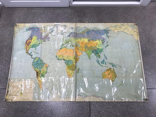 Карта растительности мира. Карта Казахской ССР
