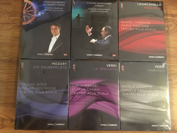 Set / colectie 6 dvd opera clasica (Verdi, Mozzart) serie limitata