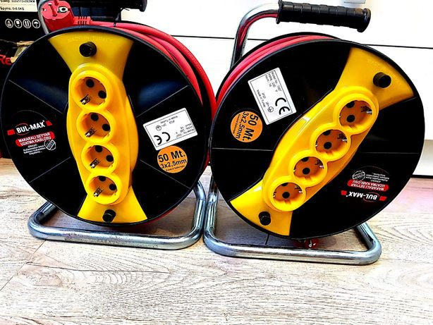 Prelungitor electric Bulmax cu tambur, 50M 3*2,5mmp NOU!Santier/Casnic