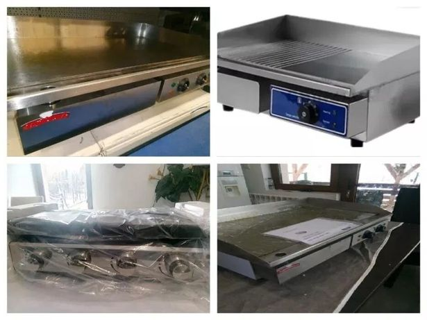 Plite,gratare,grill 90x50cm neted,stria,neted-striat,noi,electrice,gaz