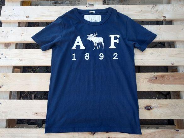 Abercrombie & Fitch A&F 1892 Deer вталена мъжка тениска size L / M