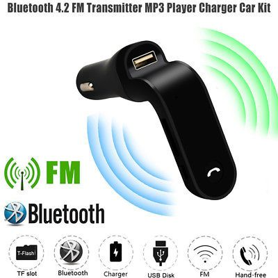 Bluetooth mp3 FM трансмитер за кола, поддържа USB, SD, MMC LCD Remote