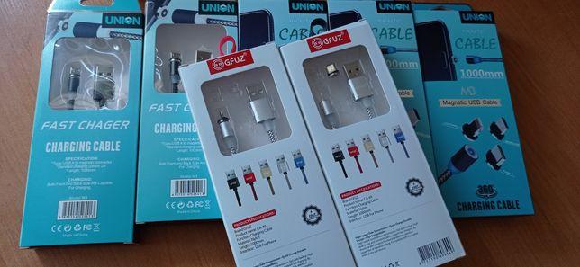 Магнитные зарядки на айфон и микро ЮСБ