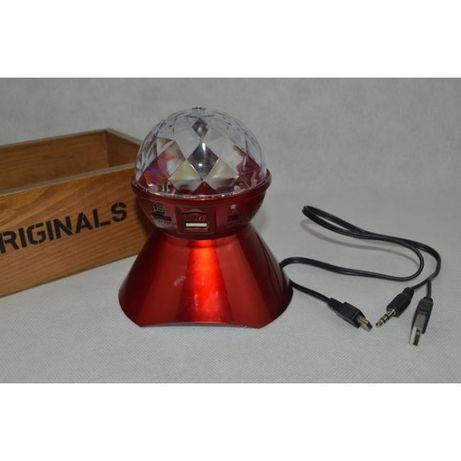 Boxa Portabila Cu Lumini, MP3 Player Si Radio Fm