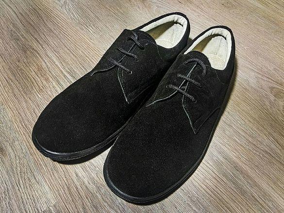Нови мъжки обувки от естествен велур № 43