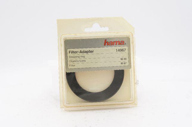 Inel Step Up Hama 49-67 pt filtre de 67mm si obiective de 49mm, nou