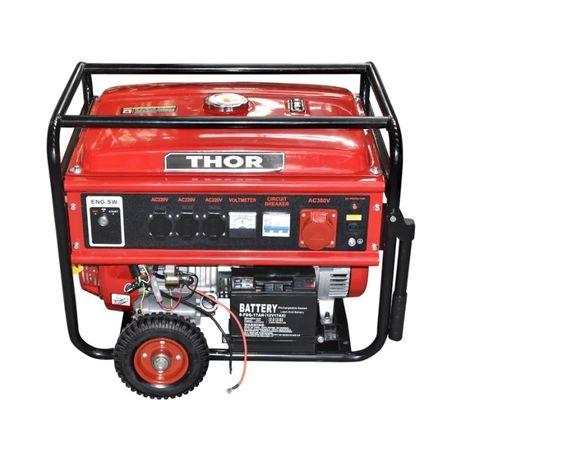 Generator curent pe benzina 220-380 V 6.5 KW 13 CP THOR