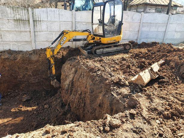 Închiriez excavator pentru diverse săpături fundati beciuri ETC
