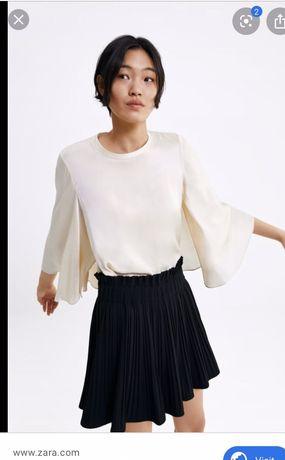 Сатенена блуза zara S