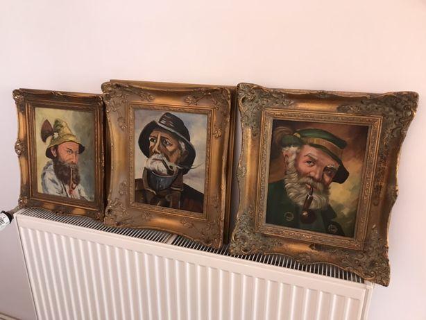 Vând tablouri pictura pânza vintage Moș Pipa