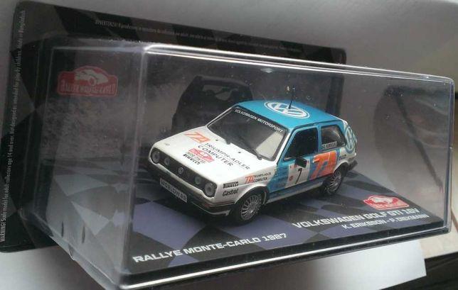 Macheta VW Golf 2 GTi Rallye Monte Carlo 1987 - Altaya 1/43 (Raliu)