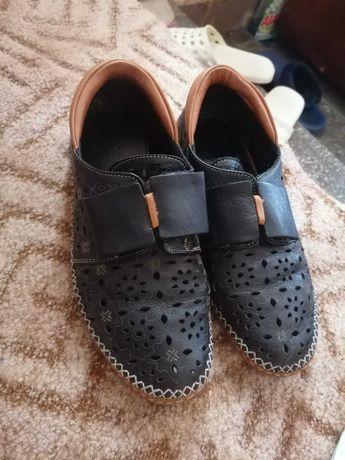 Pantofi de vara perforații (din piele)
