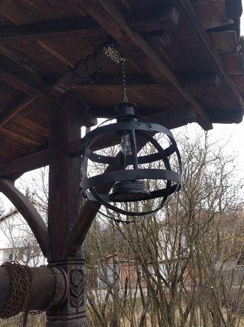 Продавам ръчно изработена лампа и нощна лампа от бъчва, буре.
