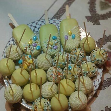 Капкейки, кейк-попсы на заказ 350тг