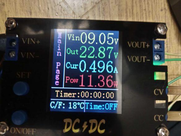 DC DC Automatic Boost .CC . CV волтаж регулатор