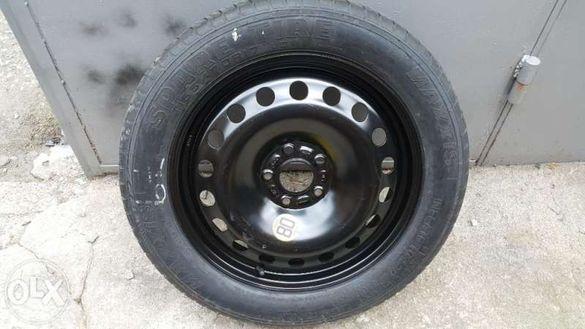 резервна гума патерица 16, 17 и 18цола 5x108 за peugeot, volvo, citroe