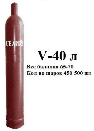 Газ Гелий для шаров и баллон