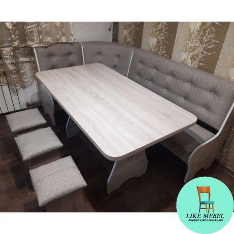 Кухонный уголок/Стол/Стулья/мебель для кухни на заказ+доставка установ