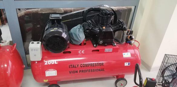 Компресор за въздух на склад 24л, 50л, 100л, 200л, 300л, и 500 литрови