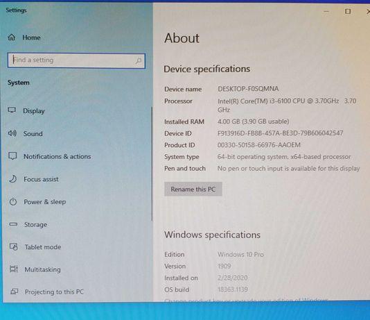 Desktop Hp prodesk tastatura si mouse wireless