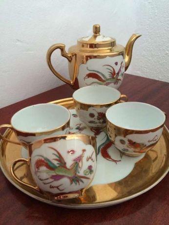 Set ceai auriu ( vintage)