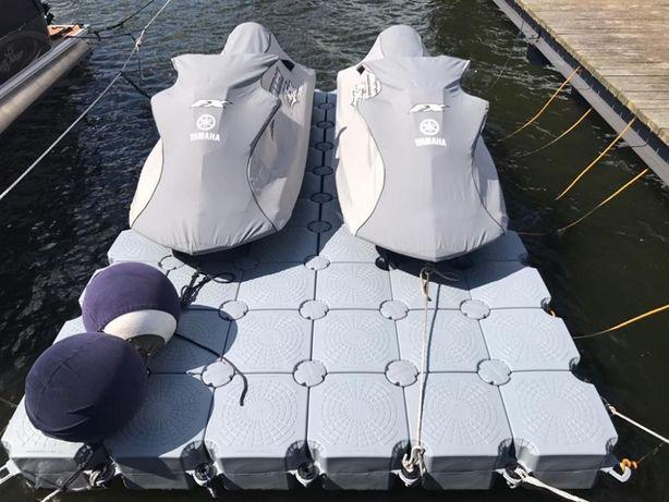 Doc plutitor modular pentru 2 skijet-uri