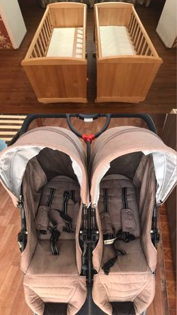 Продаем коляску, детскую кровать качелю