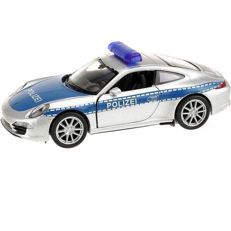 Masinuta Welly Porsche 911 Politia scara 1:24