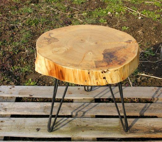 Масичка за кафе Рустик помощна масичка дърво шайба