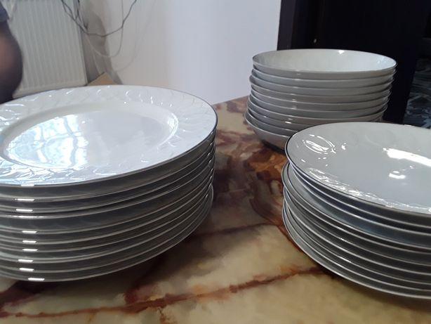 Set de masa porțelan culoare alb