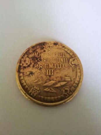 Premiu scolar premii scolare - medalion bronz - diam 30 mm