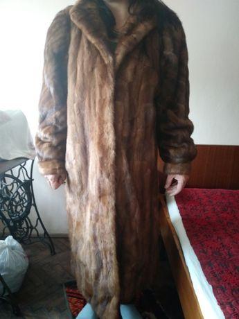 Дълго палто от визон