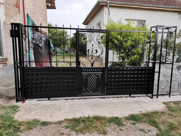 изработка на портали огради и врати от ковано и гладко желязо