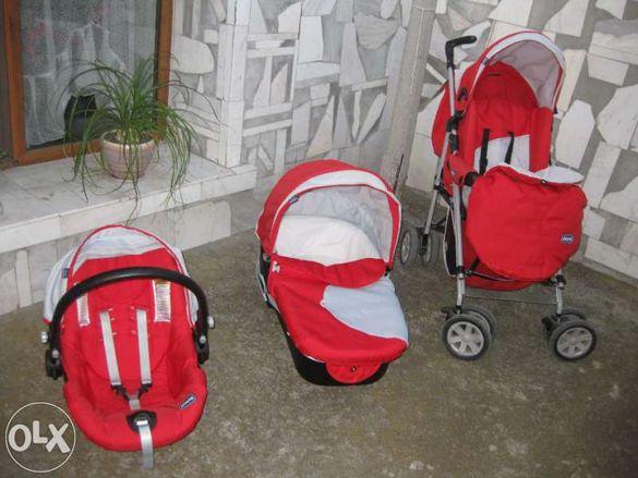 Продавам комбинирана детска количка Чико 3 в 1