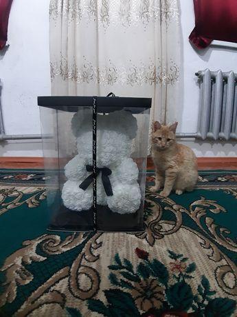 мишка из роз 40см большой